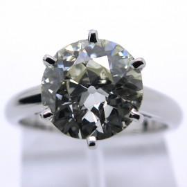 Solitaire diamant certifié 3,14 carats Modèle Place Vendôme 1743