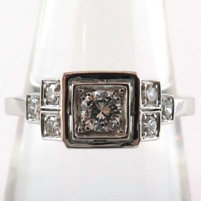 Bague de style 1920 en or blanc et diamants 1581