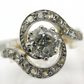 Bague Tourbillon en or platine et diamants – Geneviève 1889