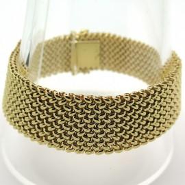 Bracelet maille milanaise en or jaune 204
