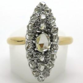 Bague diamants marquise Belle Epoque - Modèle Saint Sulpice 1954