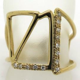 Philomène Thébault - Bague Archi en or jaune et diamants C 36