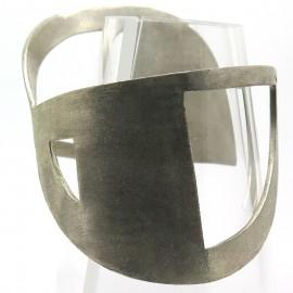 Bracelet en argent C62 - Manchette Double Sens, bijou créé par Philomène Thébault