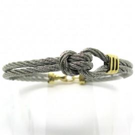Bijoux FRED - Bracelet FRED force 10 en acier et or 205