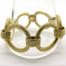 Bracelet en or à maillons ronds 3