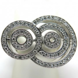 Bague cercles en diamants sur monture en or blanc Alice 1925
