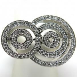 Bague cercles en diamants sur monture en or blanc Alice 1925