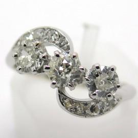 Bague trois diamants monture or blanc - Blanche 1957