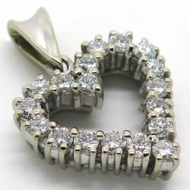 Pendentif diamants en forme de coeur 341