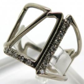 Bague Archi en or blanc et diamants Philomène Thebault C38