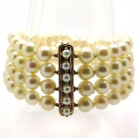 Bracelet de perles de culture Akoya 210