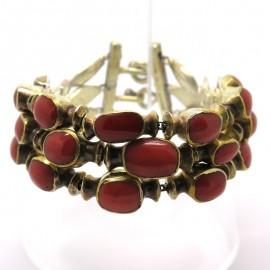 GOUDJI - Bracelet en vermeil et corail A161