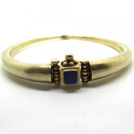 GOUDJI - Torque en vermeil et lapis-lazuli A128