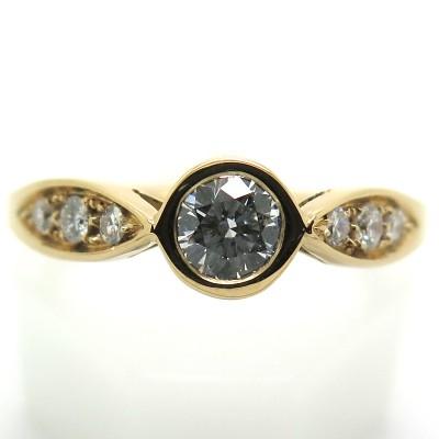 Solitaire diamant monture originale en or rose - Bague Philomène Thébault C40