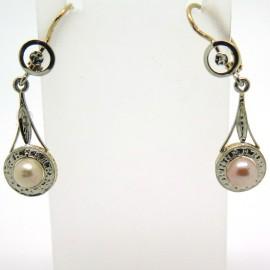Boucles d'oreilles anciennes en or et perle Isabelle 235