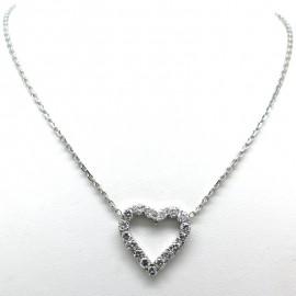 Chaîne et pendentif coeur serti de diamants 325