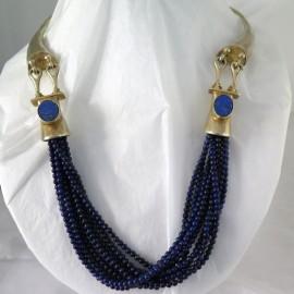 GOUDJI PARIS - Collier en vermeil et lapis-lazuli A130
