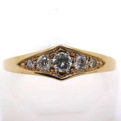 Philomène Thébault - Bague en or cinq diamants C41