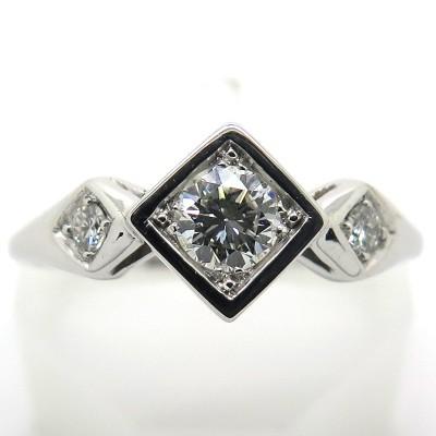 Bague diamants monture or blanc - Philomène Thébault C42