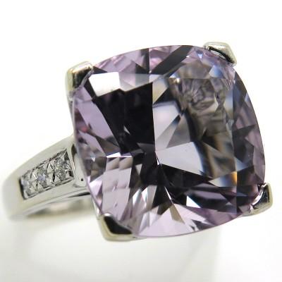 MAUBOUSSIN Paris - Bague améthyste diamants or blanc 2219