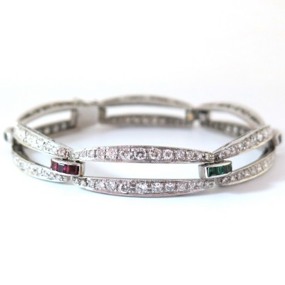 Bracelet diamants Haute Joaillerie 25