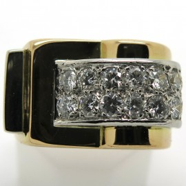 Bague Tank diamants vers 1940 -Odile 2222