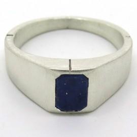 Philomène Thébault - Chevalière pour homme en argent et lapis-lazuli C44