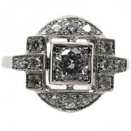 Art Déco - Bague de fiançailles diamants 1696