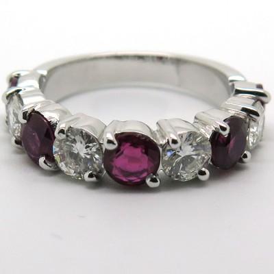 Anneau rubis diamants 1662