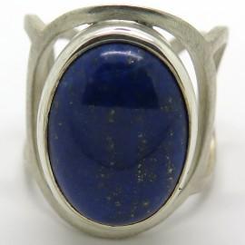 Bague en argent et lapis lazuli C55 - Philomène Thébault