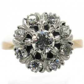 Belle Epoque - Bague diamants marguerite ancienne 2237