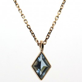 Collier en or rose et aigue-marine C131