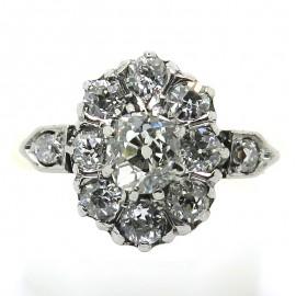 Bague ancienne diamant taille coussin Agathe 2295