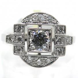Bague en or blanc et diamants 2297