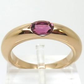 Anneau en or rose et tourmaline rose C84 - Philomène Thébault