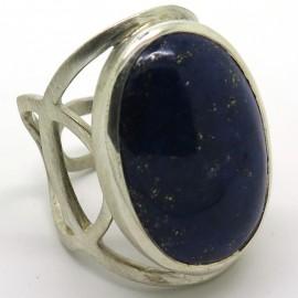 Bague bleu nuit mixte en argent et lapis-lazuli C46