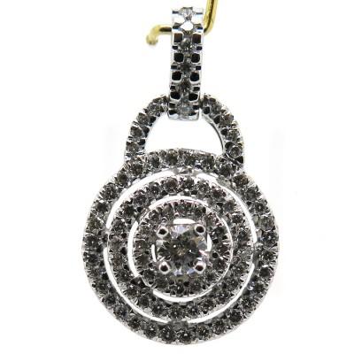 Pendentif cadenas en or blanc et diamants 306