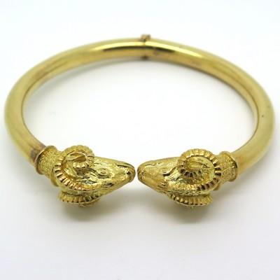 Bracelet têtes de béliers en or 194