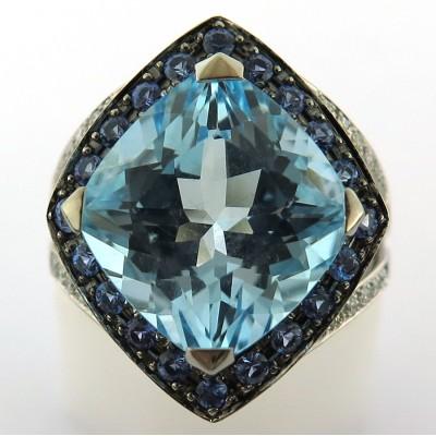 3bbab2c3848 MAUBOUSSIN Fou de Toi - Bague topaze bleue saphir diamants 1634