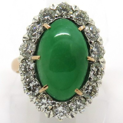 Bague marquise jade diamants 1839