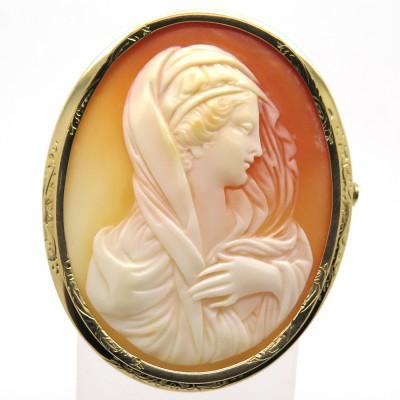 Bijou Napoléon III – Broche camée 187