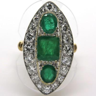 Marquise émeraude diamant 1808