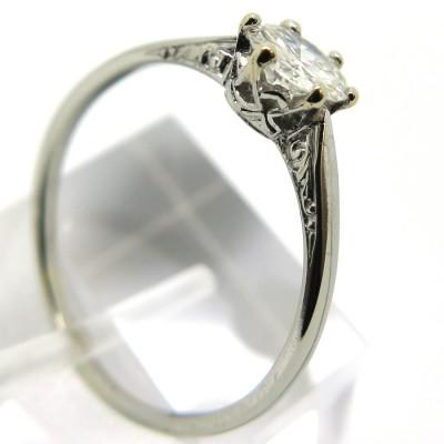 Diamant 0,70 carat monture solitaire en or blanc 1795