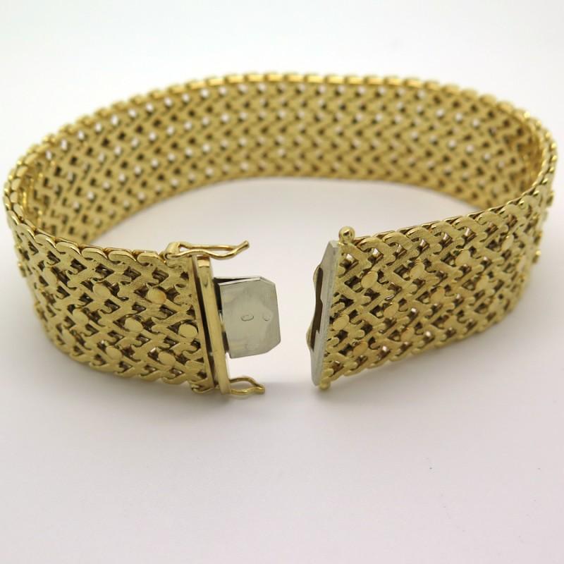 cartier bracelet manchette vintage en or jaune 196. Black Bedroom Furniture Sets. Home Design Ideas