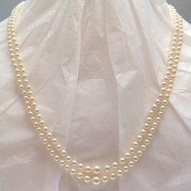 AKOYA – Collier de perles de culture deux rangs 274