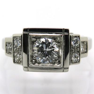 Philomène Thébault – Bague en platine et diamants 1806