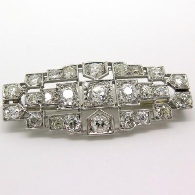 Art déco – Broche en platine et diamants 163
