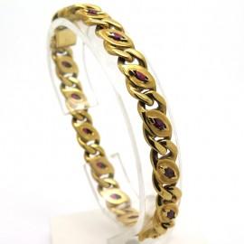 MAUBOUSSIN – Bracelet en or jaune et rubis 38
