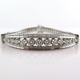 Bracelet diamants or blanc 183