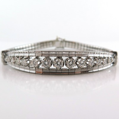 Bracelet diamants or blanc 183